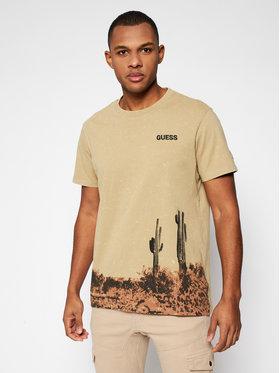 Guess Guess T-Shirt M1GI59 K8FQ1 Zielony Regular Fit