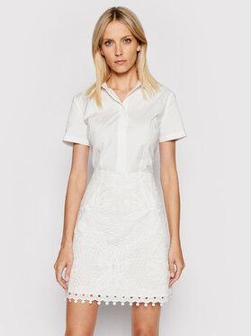 Guess Guess Sukienka koszulowa W1GK1B WDW20 Biały Regular Fit