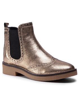 Pepe Jeans Pepe Jeans Kotníková obuv s elastickým prvkem Savile Met PLS50320 Zlatá