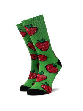 HUF HUF Skarpety Wysokie Unisex Strawberry Sock SK0046 r.OS Zielony