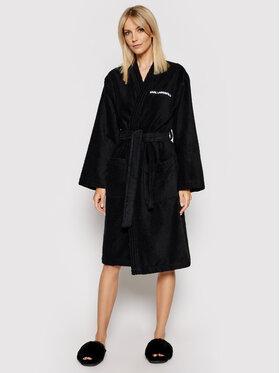 KARL LAGERFELD KARL LAGERFELD Robe de chambre Unisex Logo 211U2130 Noir