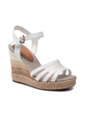 Tommy Hilfiger Tommy Hilfiger Espadryle Gradient High Wedge Sandal FW0FW05631 Biały