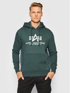 Alpha Industries Alpha Industries Суитшърт Basic 178312 Зелен Regular Fit