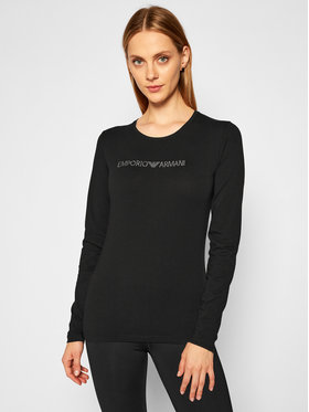 Emporio Armani Underwear Emporio Armani Underwear Bluzka 163229 0A263 00020 Czarny Slim Fit