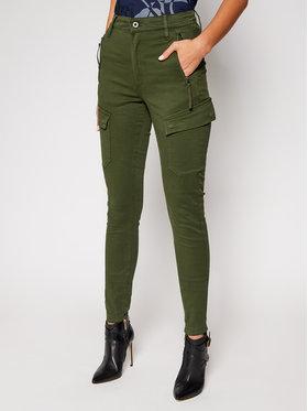 G-Star RAW G-Star RAW Pantaloni din material High G-Shape D18051-C106-C026 Verde Skinny Fit
