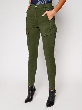 G-Star RAW G-Star RAW Текстилни панталони High G-Shape D18051-C106-C026 Зелен Skinny Fit