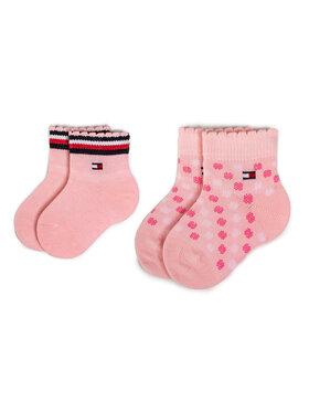 TOMMY HILFIGER TOMMY HILFIGER Σετ ψηλές κάλτσες παιδικές 2 τεμαχίων 320501001 Ροζ