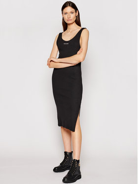 Calvin Klein Jeans Calvin Klein Jeans Kötött ruha J20J216177 Fekete Slim Fit