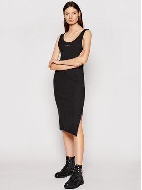 Calvin Klein Jeans Calvin Klein Jeans Úpletové šaty J20J216177 Černá Slim Fit