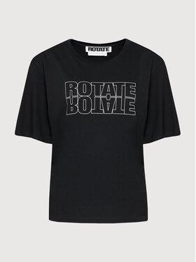 ROTATE ROTATE Marškinėliai Aster Tee RT444 Juoda Loose Fit