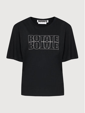 ROTATE ROTATE Tričko Aster Tee RT444 Čierna Loose Fit