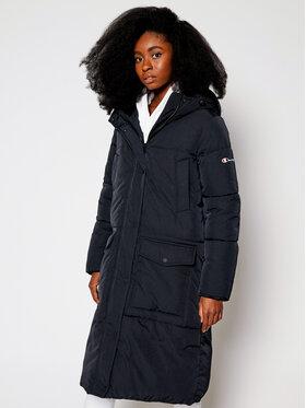Champion Champion Pehelykabát Hooded Long Coat 113445 Fekete Custom Fit