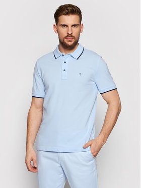 Calvin Klein Calvin Klein Polo Stretch Tipping Blu Slim Fit