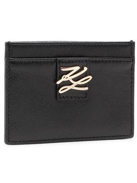 KARL LAGERFELD KARL LAGERFELD Pouzdro na kreditní karty 211W3234 Černá