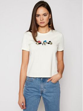 Levi's® Levi's® Тишърт DISNEY Mickey & Friends A0618-0001 Бял Slim Fit