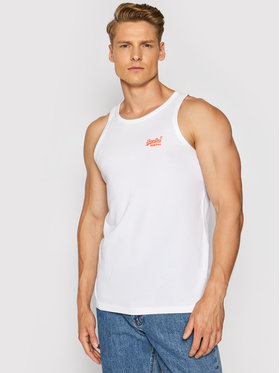 Superdry Superdry Smanicato Ol Neon Lite Vest M6010615A Bianco Regular Fit