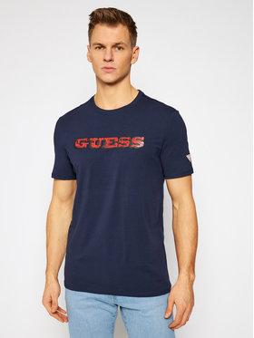 Guess Guess Marškinėliai M1RI82 J1311 Tamsiai mėlyna Slim Fit
