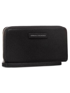 Armani Exchange Armani Exchange Portefeuille femme grand format 948068 CC723 00020 Noir