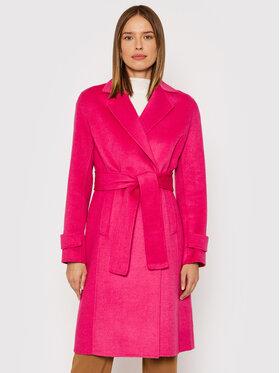 Liu Jo Liu Jo Gyapjú kabát CF1012 T8524 Rózsaszín Regular Fit