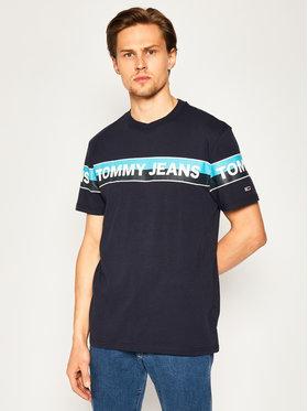 Tommy Jeans Tommy Jeans T-Shirt Double Stripe Logo DM0DM07862 Tmavomodrá Regular Fit