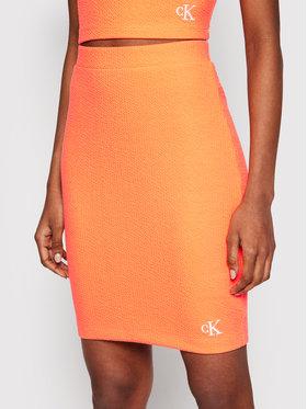 Calvin Klein Jeans Calvin Klein Jeans Puzdrová sukňa J20J215715 Oranžová Slim Fit