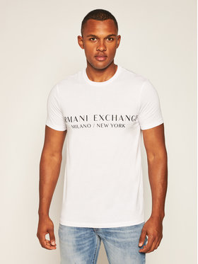 Armani Exchange Armani Exchange T-Shirt 8NZT72 Z8H4Z 1100 Weiß Slim Fit