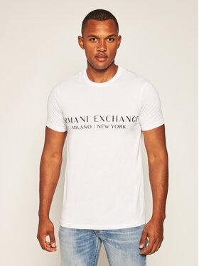 Armani Exchange Armani Exchange Tričko 8NZT72 Z8H4Z 1100 Biela Slim Fit