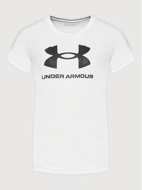 Under Armour Under Armour Póló Ua Sportstyle Logo 1363282 Fehér Loose Fit