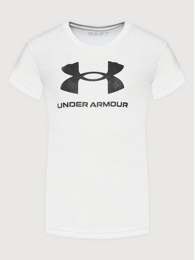 Under Armour Under Armour T-Shirt Ua Sportstyle Logo 1363282 Λευκό Loose Fit