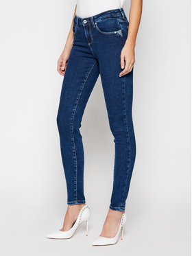 Guess Guess Τζιν Skinny Fit Annette W1RA99 D4663 Σκούρο μπλε Skinny Fit