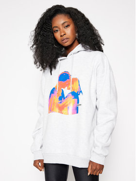 Local Heroes Local Heroes Bluza Free Love Hoodie AW2021S0009 Szary Regular Fit