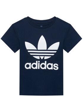 adidas adidas T-Shirt Trefoil GN8204 Granatowy Regular Fit