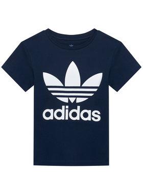 adidas adidas T-Shirt Trefoil GN8204 Tmavomodrá Regular Fit