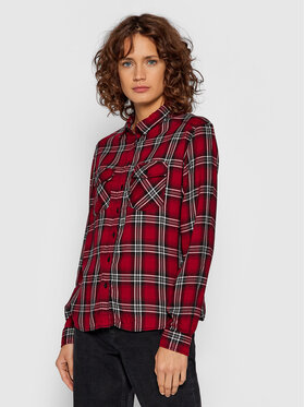 Pepe Jeans Pepe Jeans Marškiniai Oriana PL304126 Raudona Regular Fit