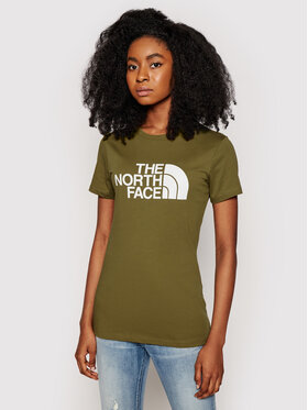 The North Face The North Face Marškinėliai Easy Tee NF0A4T1Q37U1 Žalia Regular Fit