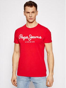 Pepe Jeans Pepe Jeans Marškinėliai Original PM501594 Raudona Slim Fit