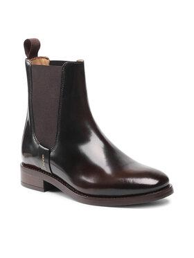 Gant Gant Kotníková obuv s elastickým prvkem Fayy 23551115 Hnědá
