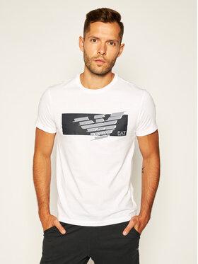 EA7 Emporio Armani EA7 Emporio Armani T-Shirt 3HPT48 PJT3Z 1100 Biały Regular Fit