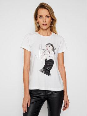 DKNY DKNY T-Shirt P0MZKDNA Weiß Regular Fit