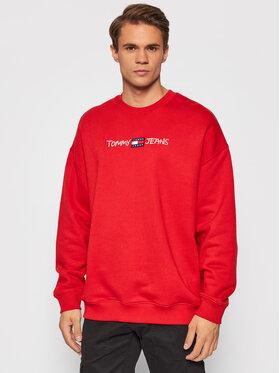 Tommy Jeans Tommy Jeans Bluza Tjm Seasonal Straight Logo DM0DM10914 Czerwony Regular Fit