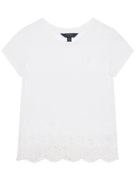 Polo Ralph Lauren Polo Ralph Lauren T-Shirt Ss Cn Eyelet 312784210001 Weiß Regular Fit