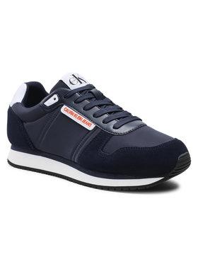 Calvin Klein Jeans Calvin Klein Jeans Sneakersy Runner Sneaker Laceup Pu-Ny YM0YM00038 Tmavomodrá