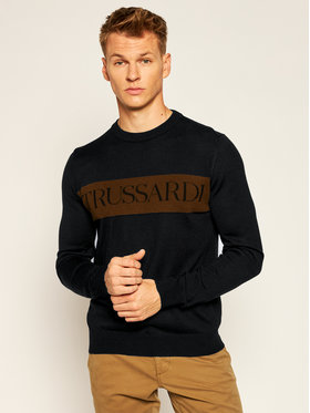 Trussardi Jeans Trussardi Jeans Sweater 52M00426 Fekete Regular Fit