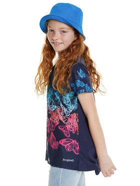 Desigual Desigual Marškinėliai Newport 20SGTK63 Tamsiai mėlyna Regular Fit