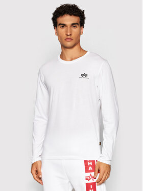 Alpha Industries Alpha Industries Manches longues Basic Small Logo 198517 Blanc Regular Fit