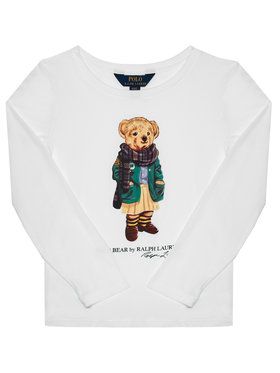 Polo Ralph Lauren Polo Ralph Lauren Palaidinė Bear Tee 311809578001 Balta Regular Fit