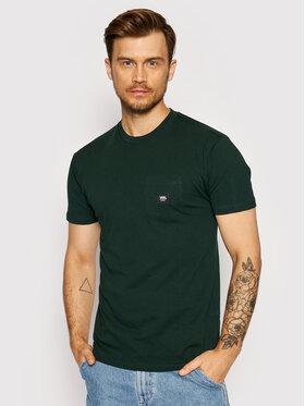 Vans Vans T-Shirt Woven Patch Pocke VN0A5KD9 Zielony Regular Fit