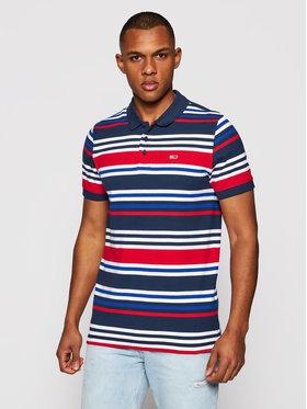 Tommy Jeans Tommy Jeans Тениска с яка и копчета Tjm Seasonal Stripe DM0DM10321 Цветен Regular Fit