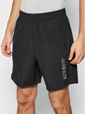 "Calvin Klein Performance Calvin Klein Performance Szorty sportowe 7"" Woven 00GMS1S854 Czarny Regular Fit"