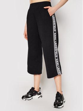KARL LAGERFELD KARL LAGERFELD Παντελόνι φόρμας Logo Tape 211W1062 Μαύρο Regular Fit